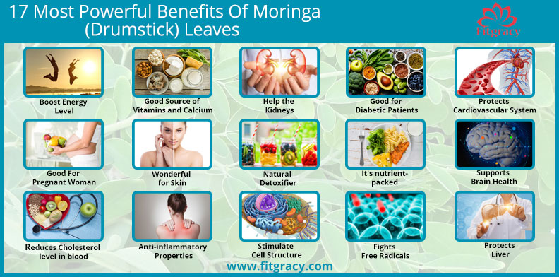 17 Most Powerful Benefits Of Moringa(Drumstick) Leaves