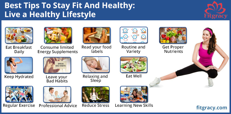 Best Tips To Stay Fit And Healthy Live a Healthy LIfestyle
