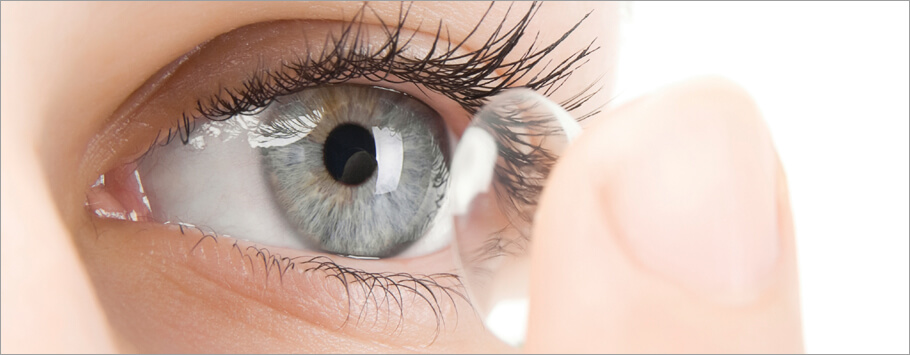 Conventional coating contact lenses