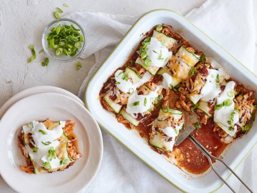 Keto Zucchini Enchiladas