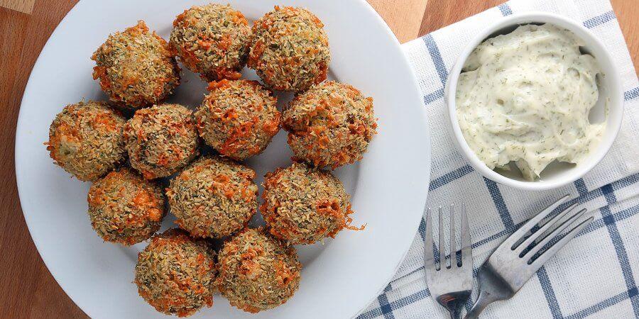 Keto Golden Chicken Fritter Balls recipe